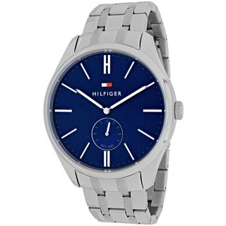 Tommy Hilfiger Men's 1791171 Curis Round Silvertone Stainless Steel Bracelet Watch