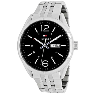Tommy Hilfiger Men's 1791071 Charlie Round Silvertone Stainless Steel Bracelet Watch