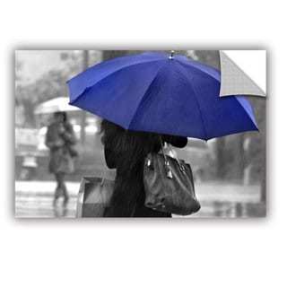 ArtAppealz Dan Holm 'Rainy Blue' Removable Wall Art