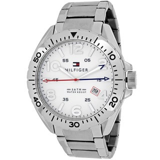 Tommy Hilfiger Men's 1791134 Casual Sport Round Silvertone Stainless Steel Bracelet Watch