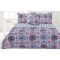 Lauren Taylor- Saltilo 5-piece Quilt Set Blue and Red
