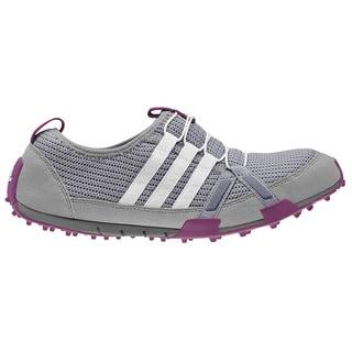 Adidas Women's Climacool Ballerina Light Onix/Running White/Tribe Purple Golf Shoes