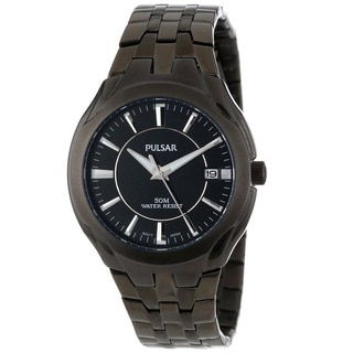 Pulsar Men's PXHA27 Classic Stainless Steel Black Dress Watch