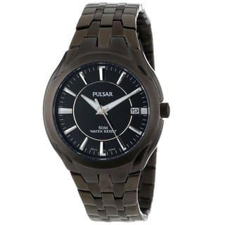 Pulsar Men's PXHA27 Classic Stainless Steel Black Dress Watch|https://ak1.ostkcdn.com/images/products/10515034/P17587483.jpg?impolicy=medium