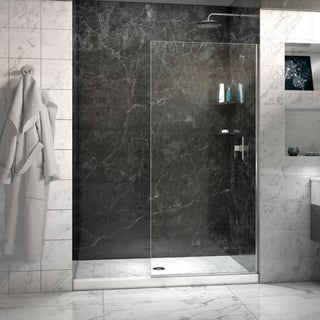 Linea Frameless Shower Door 34 in. x 72 in. Open Entry Design (3 options available)