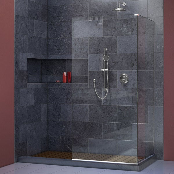 Shop Linea Frameless Shower Door With Two Attached 30 X 72 Inch