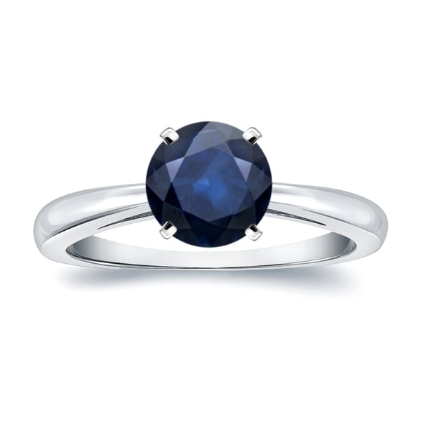 c87270fc658e Auriya Classic 2ct Round Solitaire Blue Sapphire Engagement Ring 14k Gold