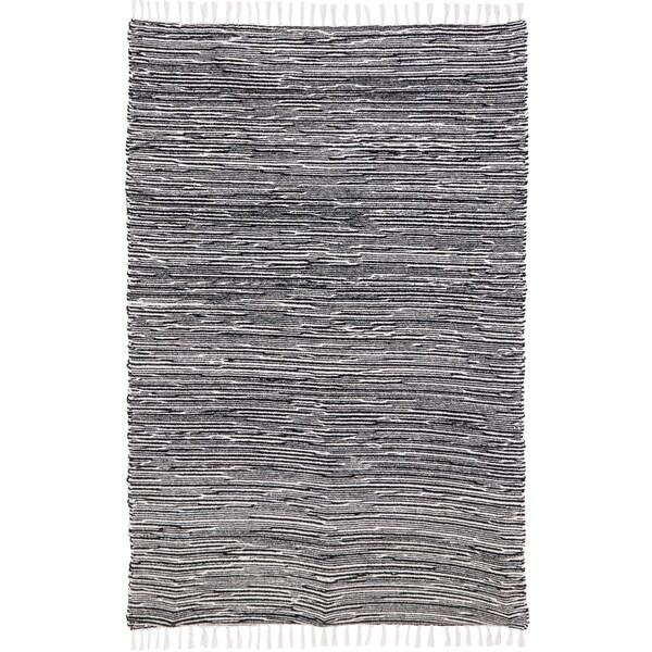 Black Complex Chenille Flat Weave Rug (9'x12')