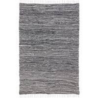 Black Complex Chenille Flat Weave Rug - 9'x12'