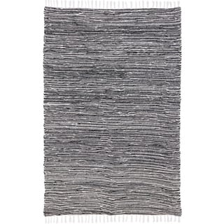 Black Complex Chenille Flat Weave Rug (10'x14')