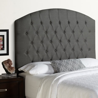 Humble + Haute Halifax Tall Queen Size Grey Floral Arched Upholstered Headboard