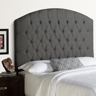 Humble + Haute Halifax Tall Grey Floral Arched Upholstered Headboard