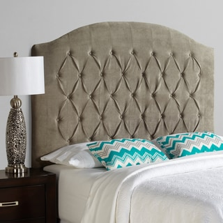 Humble + Haute Halifax Tall Light Grey Velvet Arched Upholstered Headboard