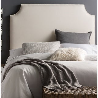 Humble + Haute Halifax Tall Grey Linen Blend Arched Upholstered Headboard