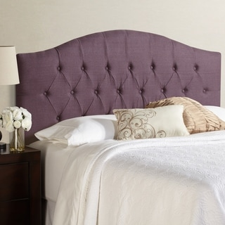 Humble + Haute Halifax King Size Iris 100-percent Linen Arched Upholstered Headboard
