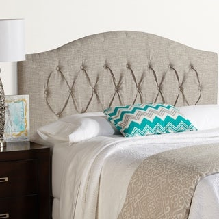 Humble + Haute Halifax King Size Ash Grey Arched Upholstered Headboard
