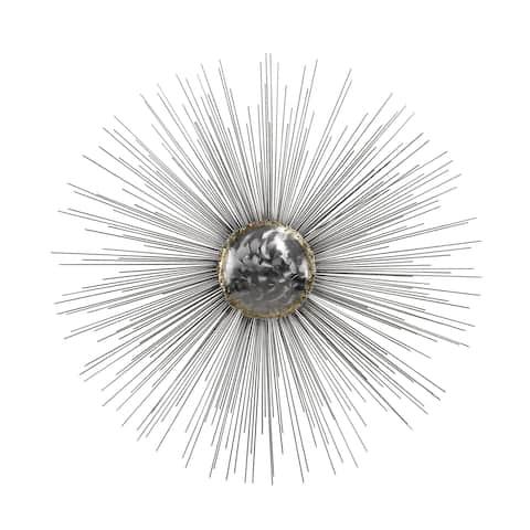 Dimond Home Silver Sun Metal Wall Decor