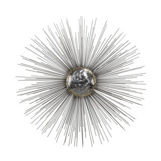 Dimond Home Silver Sun Metal Wall Decor