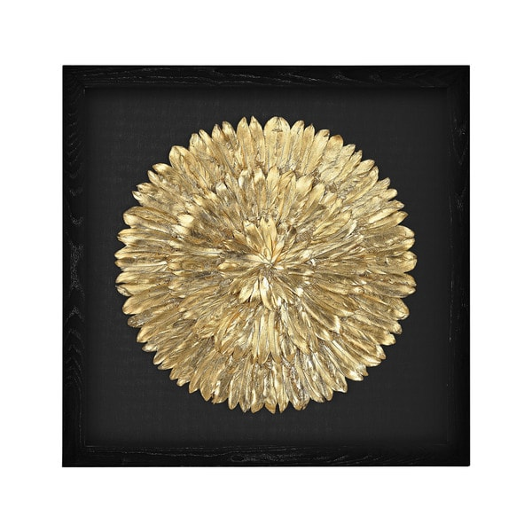 Shop Dimond Home Gold Feather Spiral Framed Wall Art - Free Shipping ...