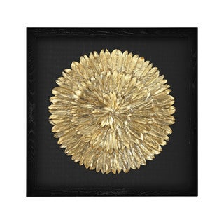 Dimond Home Gold Feather Spiral Framed Wall Art