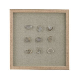 Dimond Home Natural Agate Shadow Box Framed Wall Art