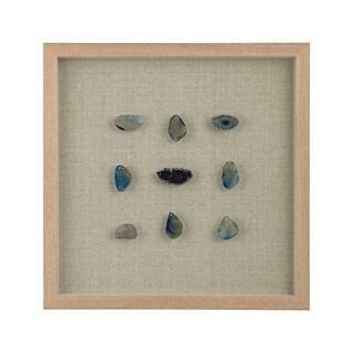 Dimond Home Blue Agate Shadow Box Framed Wall Art