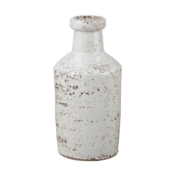Dimond Home Rustic White Milk Bottle Free Shipping On
