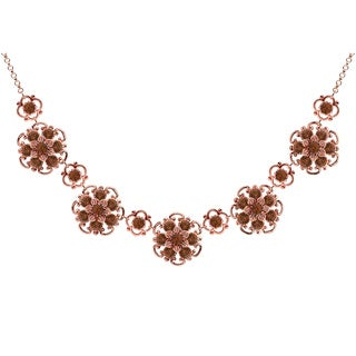 Lucia Costin Sterling Silver Brown Crystals Necklace