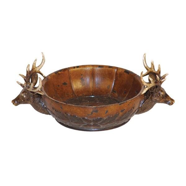 Sterling Stag Brown Red Deer Display Bowl