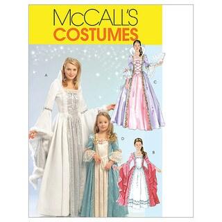 Misses'/Children's/Girls' Princess Costumes-MISS (SML-MED-LRG-XLG)
