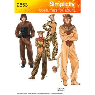 Simplicity Adult Costumes-XS,S,M,L,XL