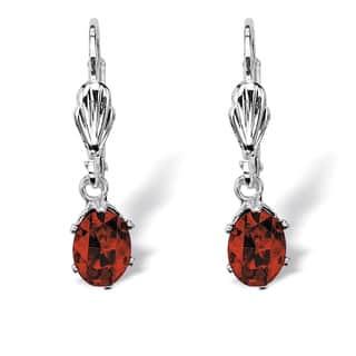 Color Fun Silvertone Oval-cut Birthstone Drop Earrings|https://ak1.ostkcdn.com/images/products/10515466/P17599822.jpg?impolicy=medium