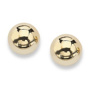 Tailored 10k Yellow Gold 4 mm Ball Stud Earrings