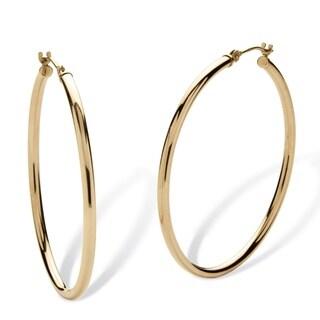 Tailored 10k Yellow Gold 40mm Hoop Earrings