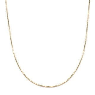 PalmBeach Tailored 10k Yellow Gold Venetian 16-inch Box Chain Necklace