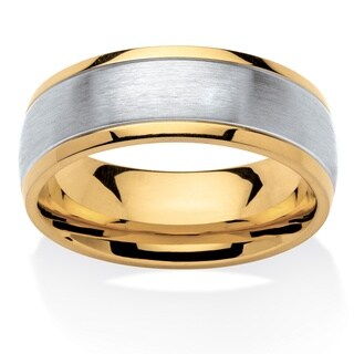 Stainless Steel and Gold Ion-plated Men's Tailored Two-tone Comfort Fit Band