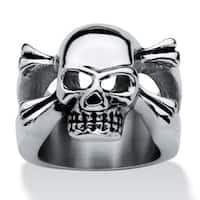 Men's Stainless Steel Skull and Crossbones Ring