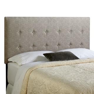 Humble + Haute Prescott Queen Size Ash Grey Upholstered Headboard