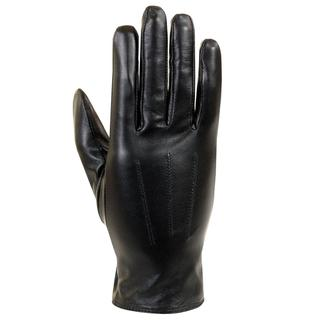 Isotoner Women's Lined Black Leather Gloves
