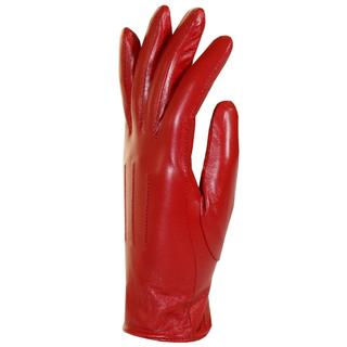 Isotoner Women's Lined Red Leather Gloves