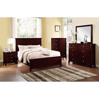 Berezne 5 Pieces Bed Room Set in Dark Brown