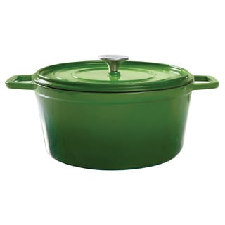 Gibson Round Cast Green Dutch Oven 5 Qt