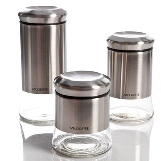 Gibson 3 Piece Silver Canister Set