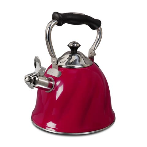 Mr Cofee Alderton Stainless Whistling 2.3 quart Tea/Coffee Kettle
