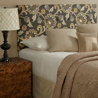 Humble + Haute Prescott King Size Grey Floral Upholstered Headboard