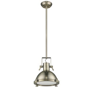 Chloe Loft/ Industrial 1-light Antique Brass Pendant