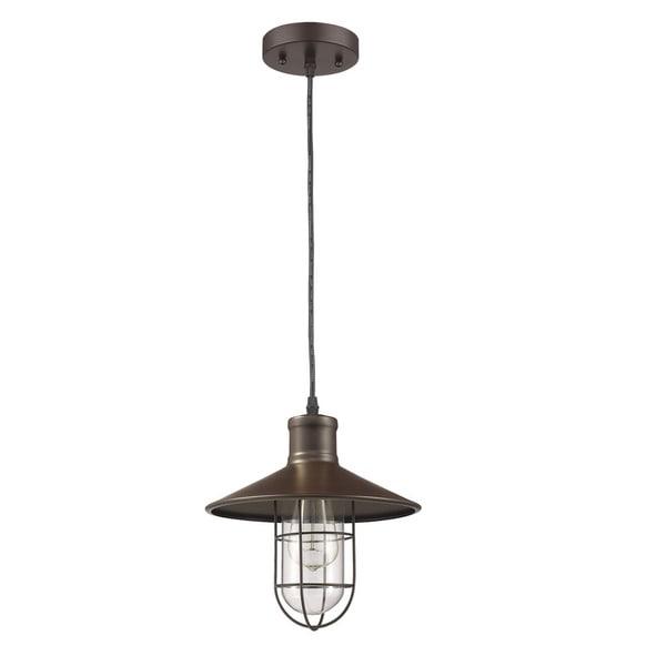 Shop Chloe Lighting Loft/Industrial 1-light Oil Rubbed