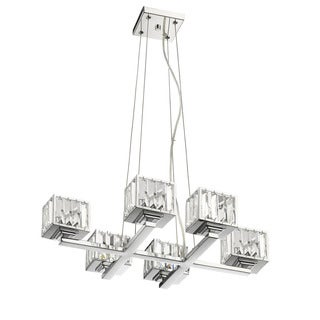 Chloe Contemporary 6-light Chrome Chandelier