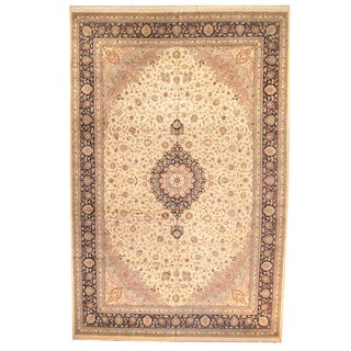 Herat Oriental Pakistani Hand-knotted Tabriz Wool Rug (12' x 18'6)