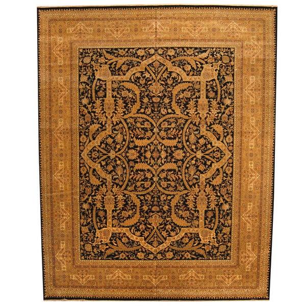 Fine Round Persian Bidjar Area Rug Hand Knotted Wool And: Shop Herat Oriental Indo Hand-knotted Bidjar Wool Rug (11